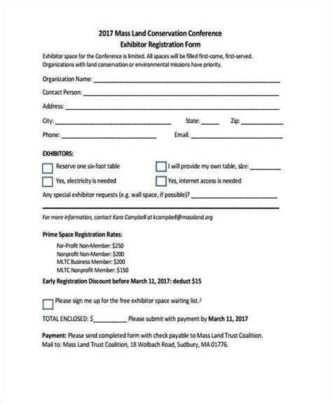 retreat registration form template 23 conference registration form templates
