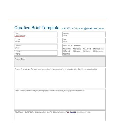 40 Creative Brief Templates Exles ᐅ Template Lab Creative Brief Template
