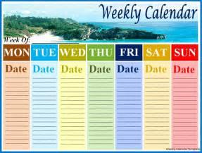 Microsoft Word Weekly Calendar Template by Weekly Calendar Template Best Word Templates