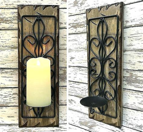 Sconce Candle Holder by Candle Holders Sconce Wrought Iron Wall Sconces Candle