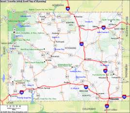 road map of wyoming and colorado map of wyoming travel map vacations travelsfinders
