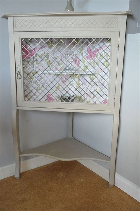 Corner Display Cabinet Painted Painted Shabby Chic Vintage Country Corner Display