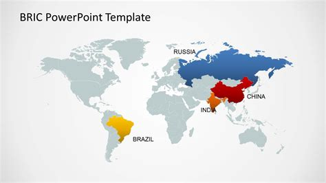 bric maps template for powerpoint slidemodel