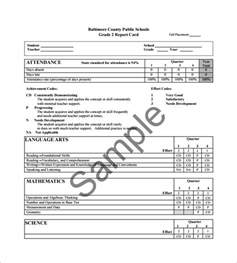 Student Grade Report Template progress report card templates 8 free printable sle