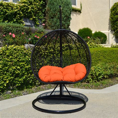 hawaiian swing chair 2 persons seater bird egg nest wicker rattan swing lounge