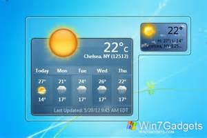 my weather windows 7 desktop gadget