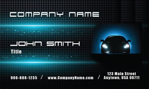 free auto dealer business card templates glowing car auto dealership business card design 501091