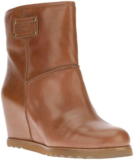 brown ankle boots marc by marc wedge ankle boot