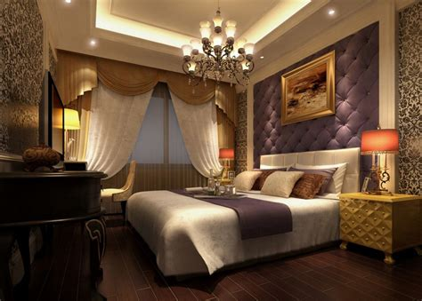 Bedroom Lighting Layout Outstanding Bedroom Lighting With Chandelier Wine White Bed Pillow White Curtain Violet Wall