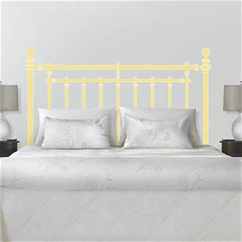 Martha Stewart Headboards by Iron Bed Headboard Wall Decal Shop Fathead 174 For Wall D 233 Cor