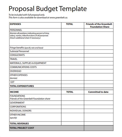 sle grant budget template 28 budget word template best photos of budget template