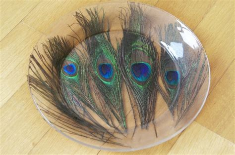 peacock feather oval art glass dish 91 best decoupage glass plate images on decoupage glass decoupage ideas and dishes