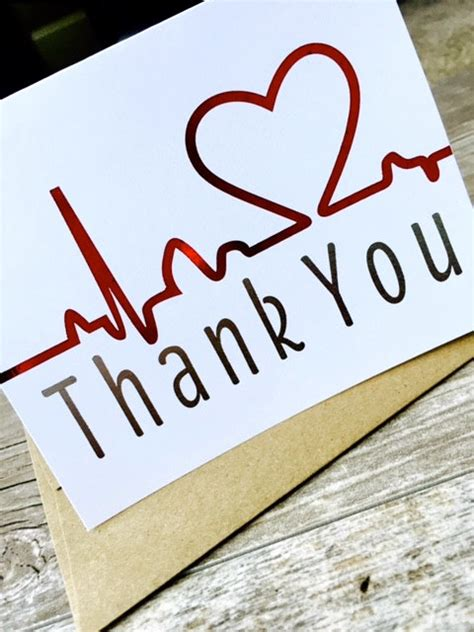 Thank You Letter For Healthcare Thank You Card Healthcare Note Cards Set Of 10