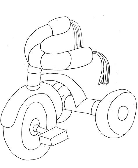 tricycle coloring pages preschool transportation coloring pages getcoloringpages com