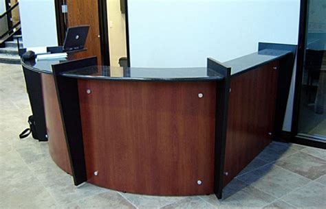 mayline sorrento reception desk granite reception desk sorrento reception desk with