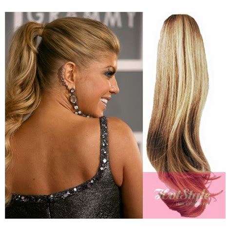 Hair Clip Poni Hairclip Poni clip in human hair ponytail wrap hair extension 20 quot wavy