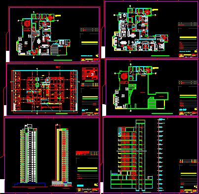 residencial building dwg section  autocad designs cad