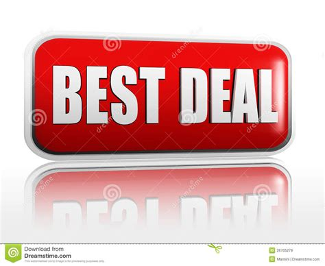 best deal best deal banner royalty free stock images image 26705279