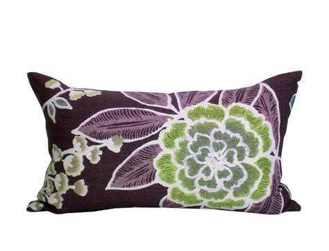 Plum Pillow Covers by Sulu Lumbar Pillow Cover In Plum
