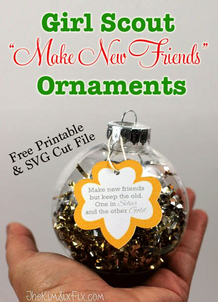 girl scouts crafts for christmas new friends and giving back at free printables troops and ornament