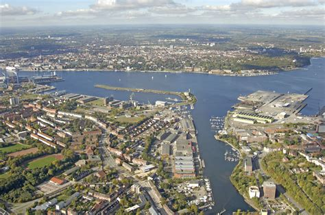 i bank kiel kiel harbour in kiel schleswig holstein germany harbor