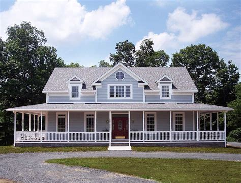 farmhouse plans with porch porches and a deck 2064ga 1st floor master suite cad available corner lot country