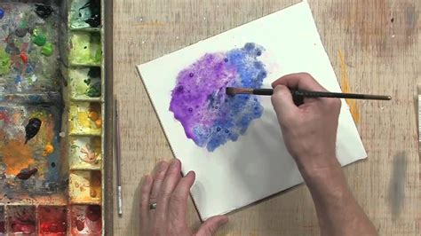 watercolor tutorial salt using salt youtube