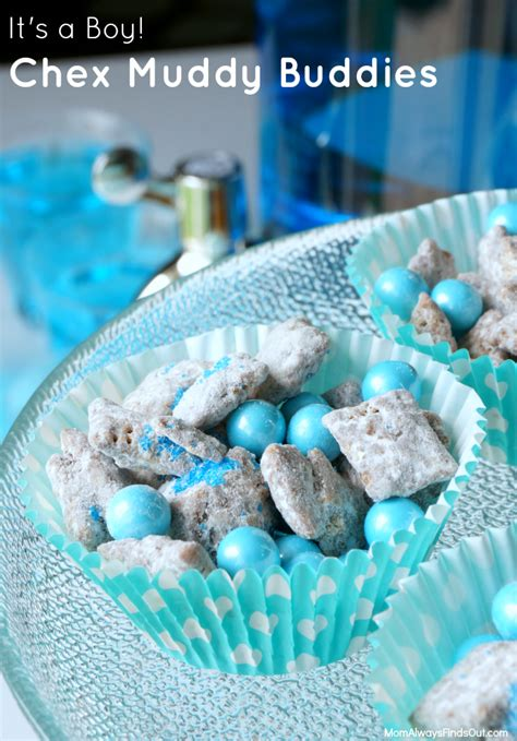 Baby Shower Foods For A Boy by Chex Muddy Buddies Recipe For A Baby Shower Pink Blue