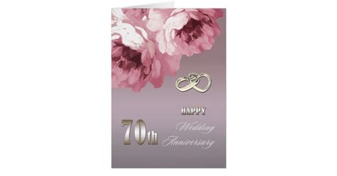 70th Wedding Anniversary Card Uk by Happy 70th Wedding Anniversary Greeting Cards Zazzle