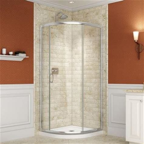 Shower Tub Enclosures Home Depot by Dreamline 33 In X 33 In X 74 3 4 In Frameless