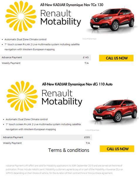renault lease scheme renault motability offers motorparks