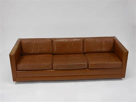 Leather Tuxedo Sofa By Harvey Probber For Sale At 1stdibs Harvey Leather Sofa