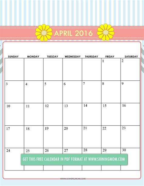 printable calendar 2016 cute cute march 2016 printable calendar search results