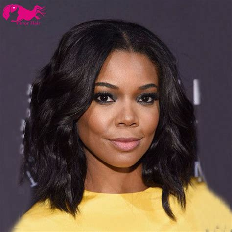 african american middle haircut synthetic lace front bob wigs for african american middle