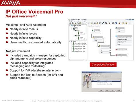 Office Voicemail Greeting Avaya Ip Office Presentation Updated