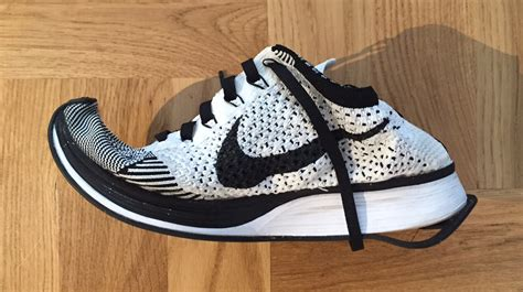 washing athletic shoes washing machine mishap destroys nike flyknits sole collector