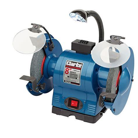 clarke bench grinder clarke cbg8370l 8 bench grinder with l machine mart