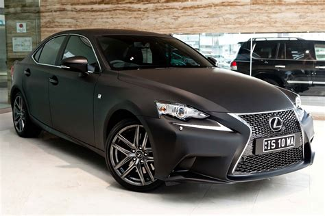lexus wrapped 2014 lexus is launched with matte black wrap in australia