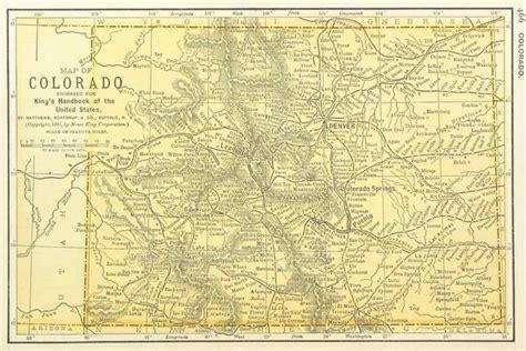 colorado maps for sale vintage colorado map my