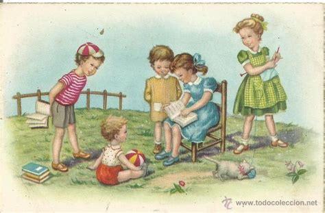 imagenes de niños jugando en navidad antigua postal ilustrada dibujo caricatura ni 241 o comprar