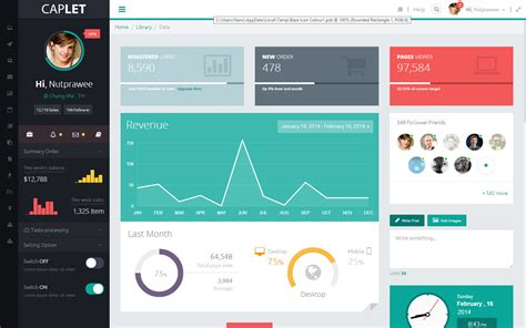 dashboard themes html caplet admin responsive html theme by zicedemo themeforest