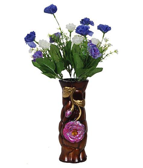 orchard ceramic flower vase with 15 blue white carnation
