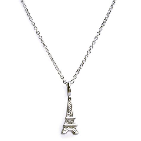 eiffel tower charm necklace on chain n1127
