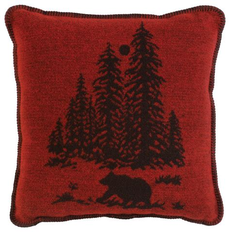 wooded river pillow rustic decorative pillows