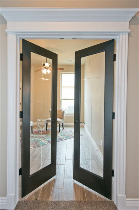 home office doors with glass office with double glass doors transitional home