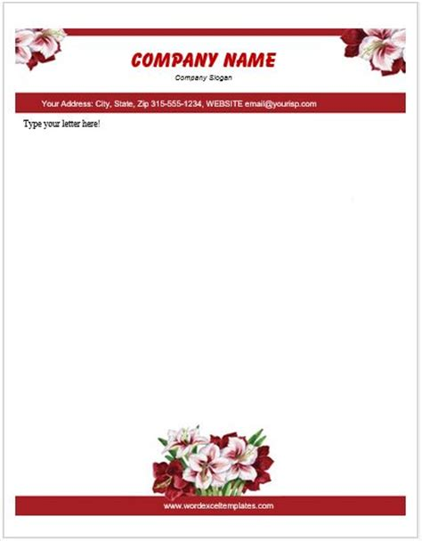 floral letterhead templates  ms word word excel templates