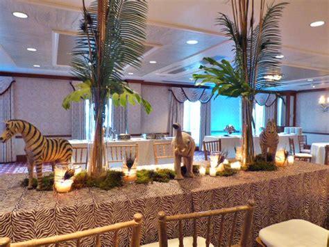 safari themed decor safari themed table decoration nj wedding event decor