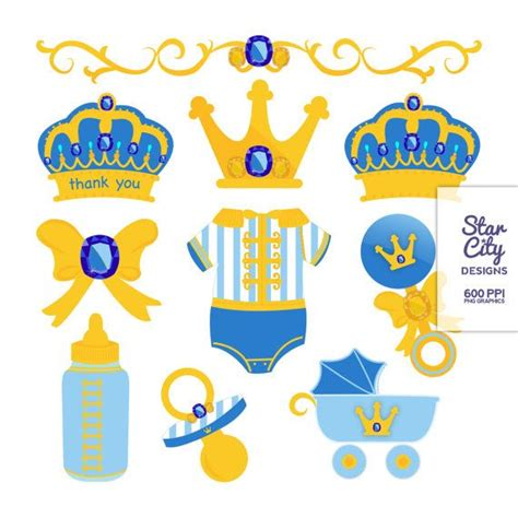 Laris Royale Bebe Pacifier Clip prince baby shower clip for scrapbooking royal gold prince clipart clipart clip