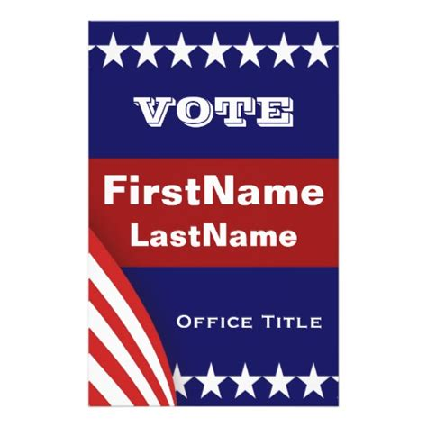 election flyer templates caign flyer template zazzle
