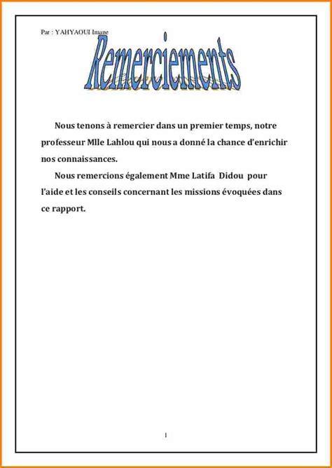 Exemple Lettre De Remerciement Stage Bac Pro 13 Remerciement Rapport De Stage Lettre De Preavis